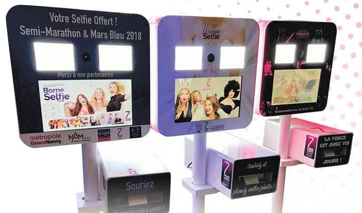 Borne selfies premium personnalisée