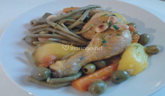 Tajine poulet et légumes