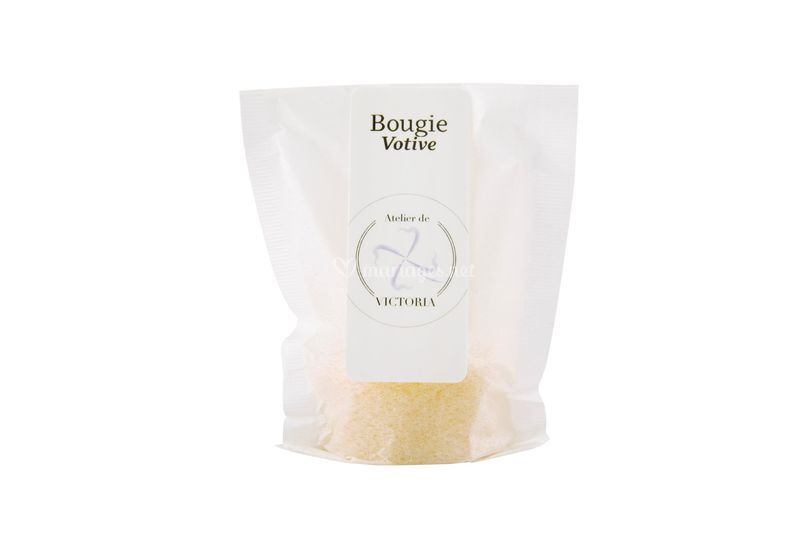 "Bougie votive ""jaune"""