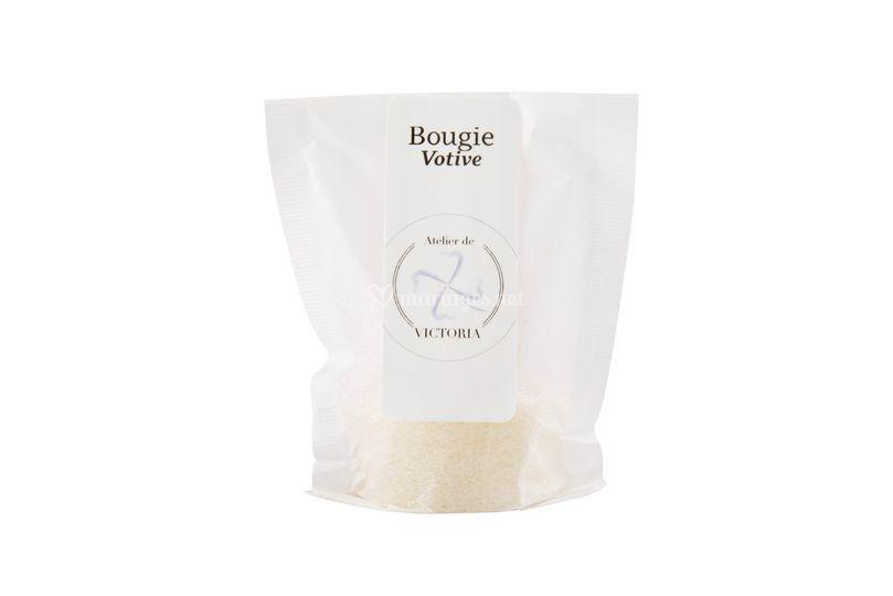 """Bougie votive """"blanche"""""""