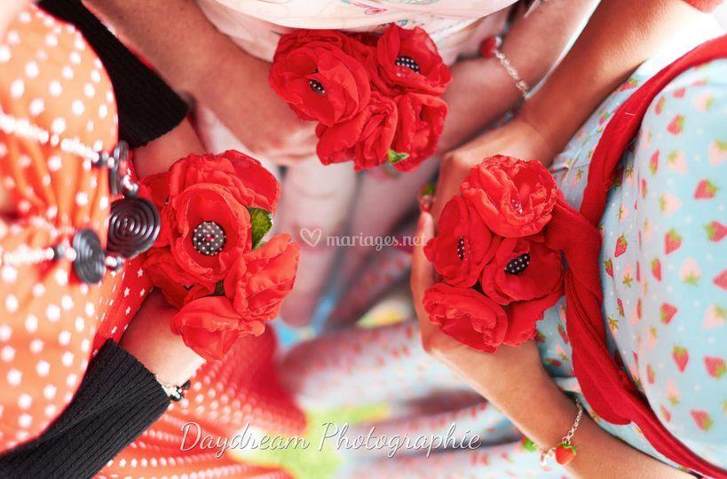 Bouquets coquelicots