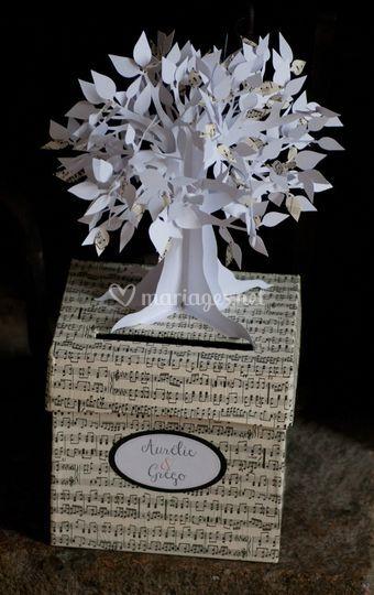 Urne-boîte à cadeaux arbre