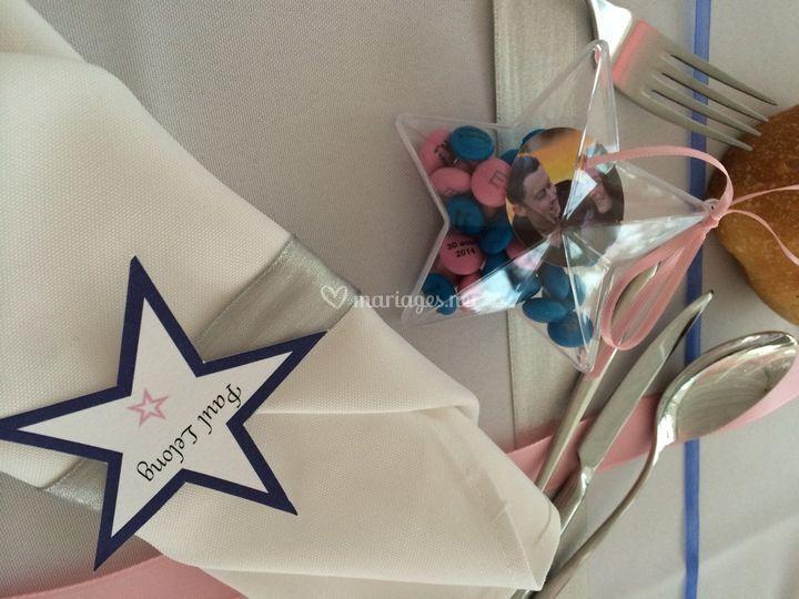 Décoration table étoile
