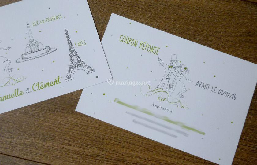 Paris et coupon-réponse