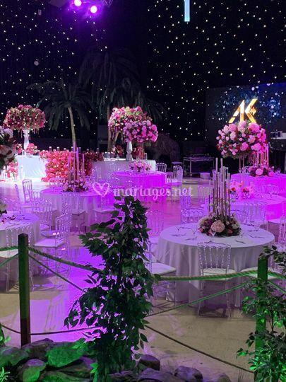 Salle décoré centre de table