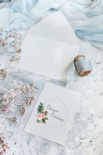 Fleurs et aquarelle