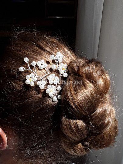 Bijou de tête multi fleurs