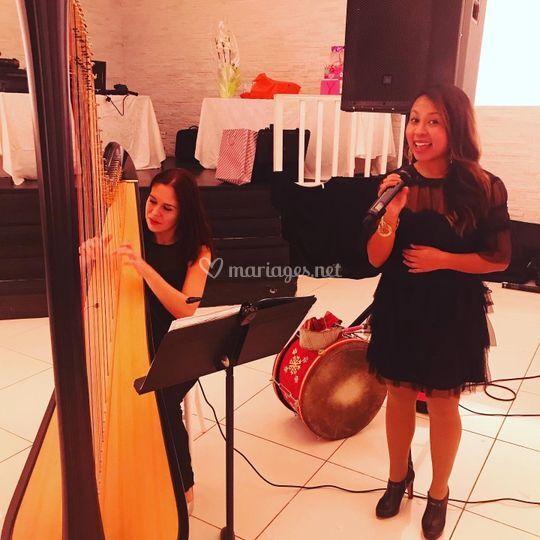 Avec Dora (Harpiste)