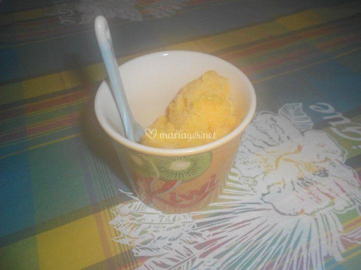 Sorbet mangue maison
