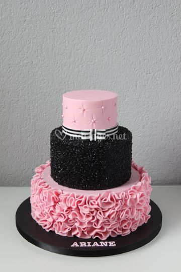 Wedding Cake Rose & Noir