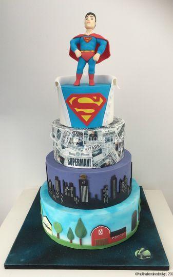 Piece Montee Superman De Nathalie Cake Design Photo 4