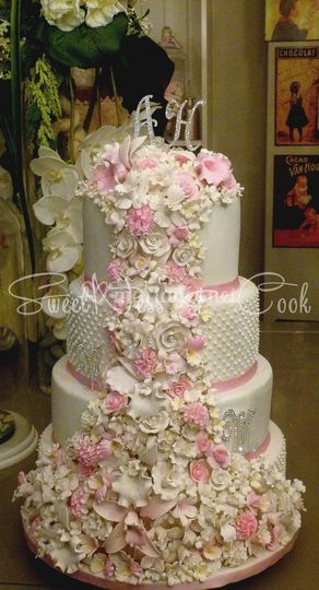 Wedding Cake Cascade pastelle