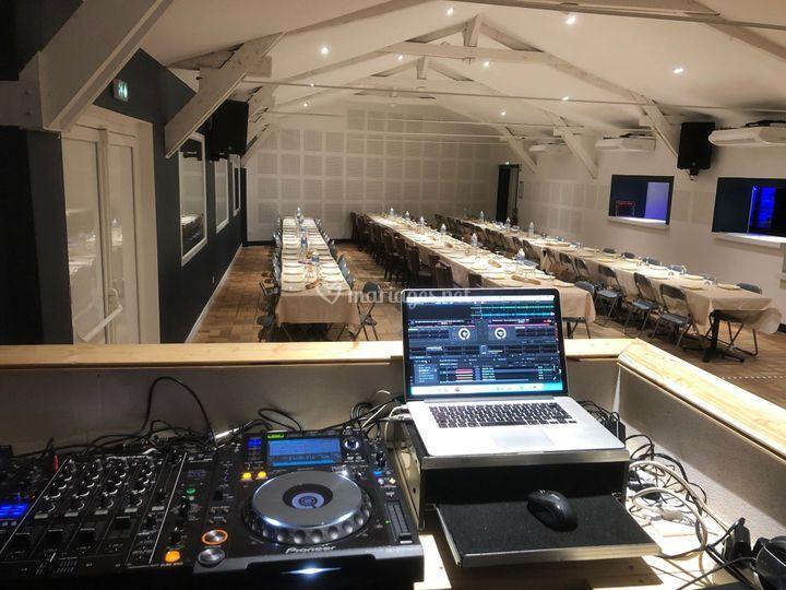 Vu cabine DJ