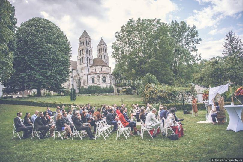 Un joli cadre de cérémonie
