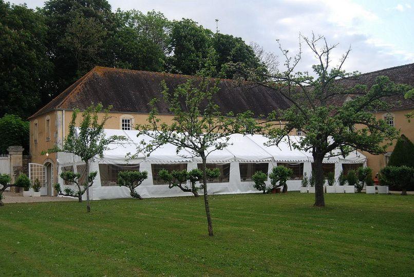 Orangerie et tente