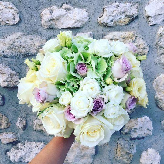 Bouquet parme/ anis