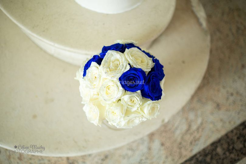 Bouquet thème bleu royal