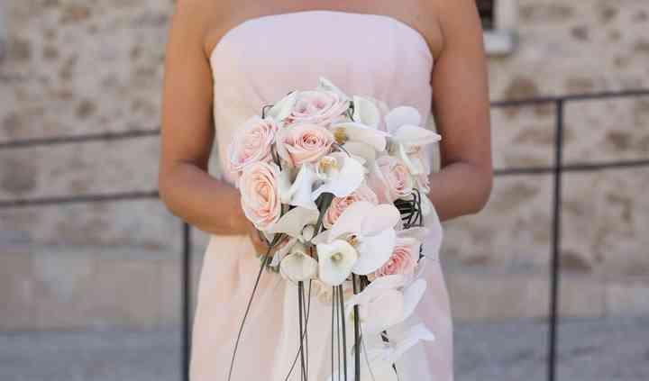 Bouquet retombant poudré