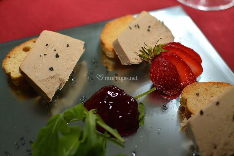 Foie gras toast