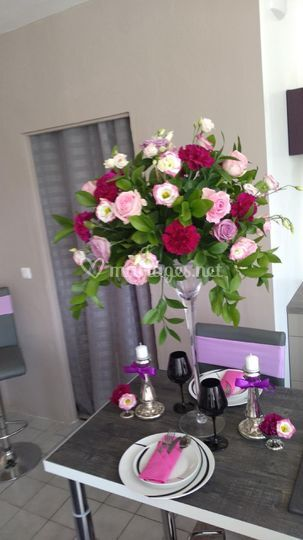 Camaïeu de rose et violet