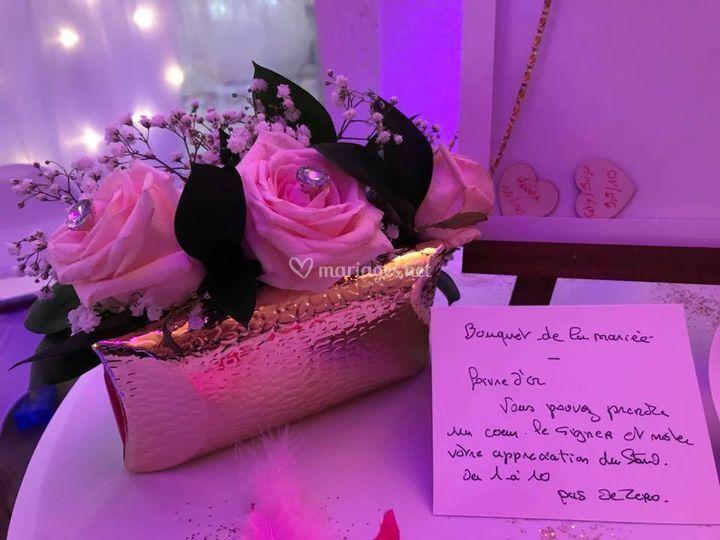 Pochette bouquet de mariée