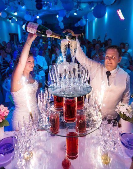 Ouverture de bal champagne