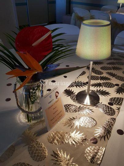 Lampe kroma décoration tropique