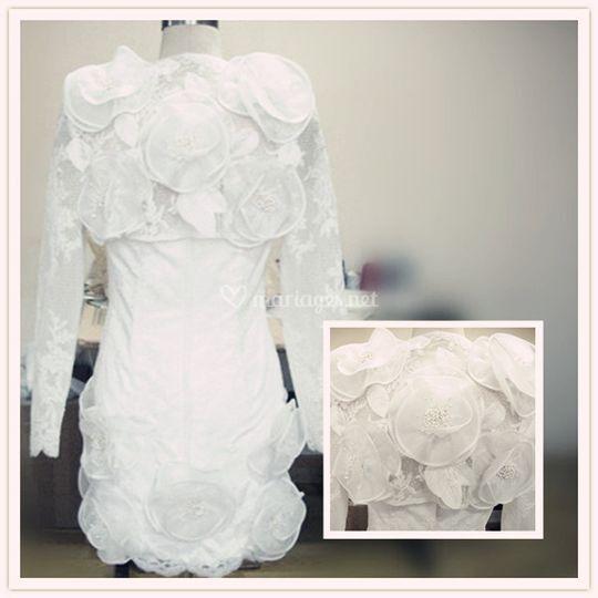 Robe de mariée avec boléro