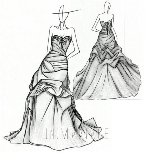 Croquis robe bustier