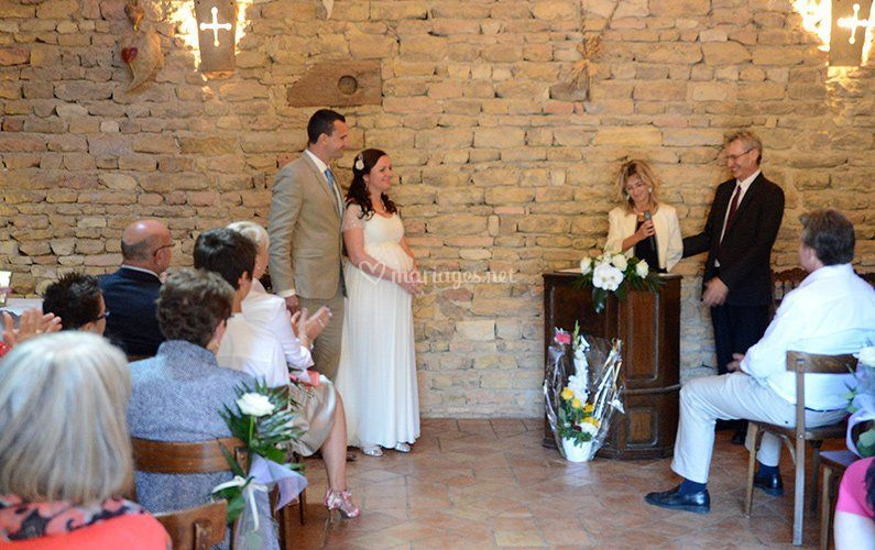 Christine & Pierre, officiants