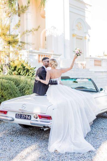 Mariés voiture