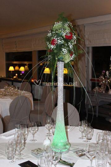 Centre de table avec des fleur