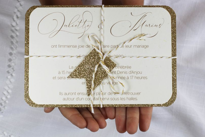 Invitation paillette chic