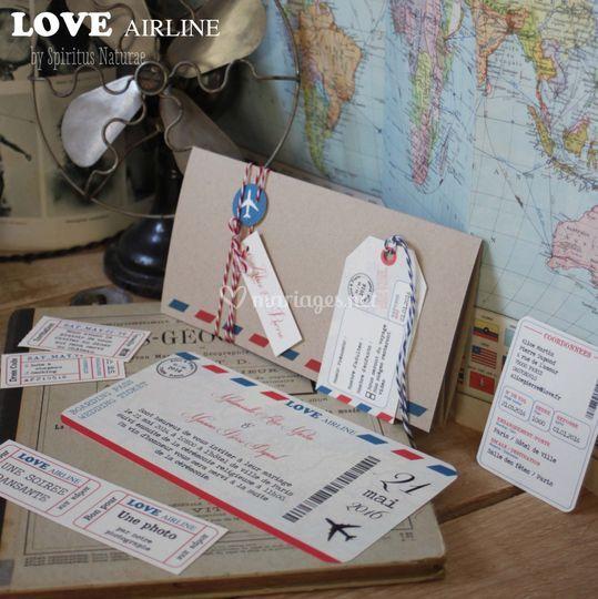 Faire-part Love Air Line