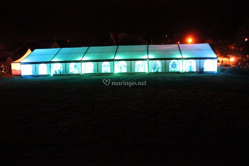 Chapiteau éclairage LED