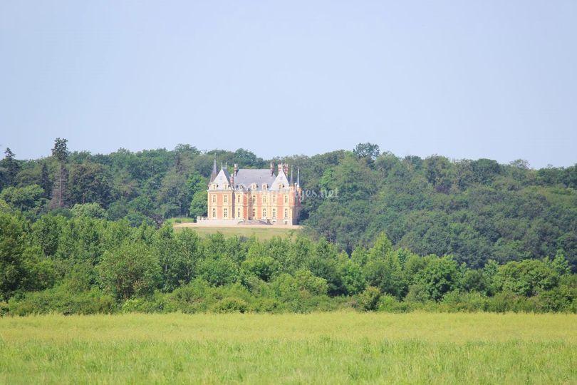 Château vue aérienne