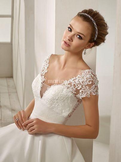 Robe divina sposa jupe satin