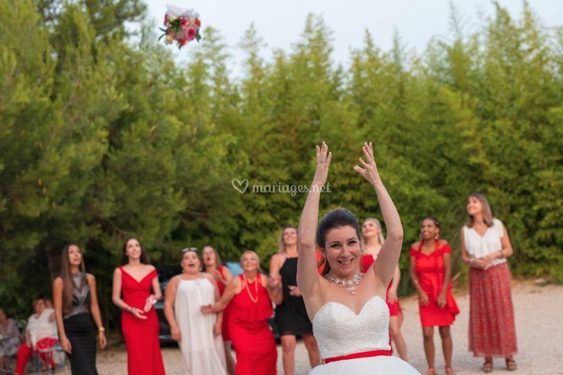 Lancé de bouquet