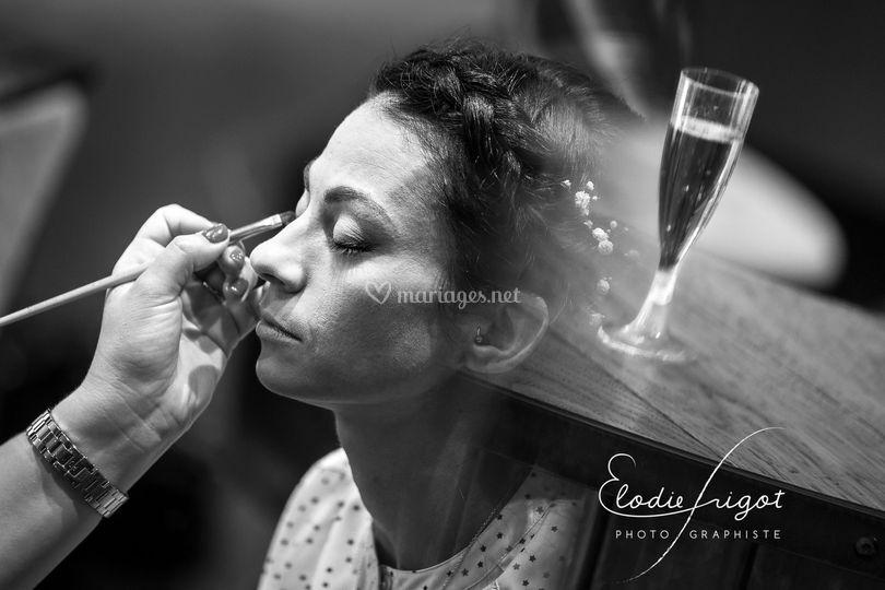 Maquillage au Champagne