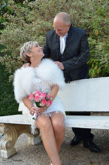 Le sourire des mariés