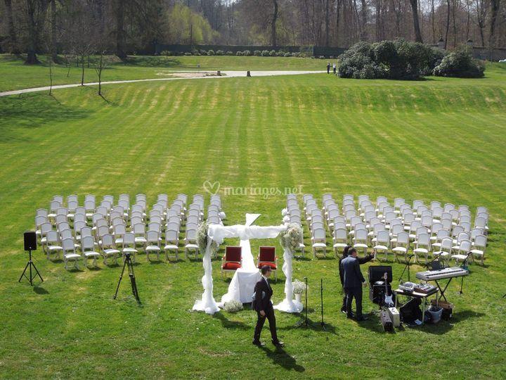 Une cérémonie au Château