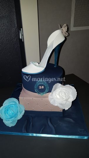 Wedding cake bleu