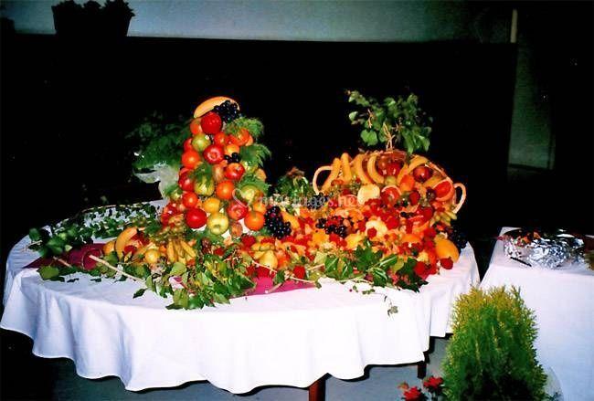 Cascade de fruit frais