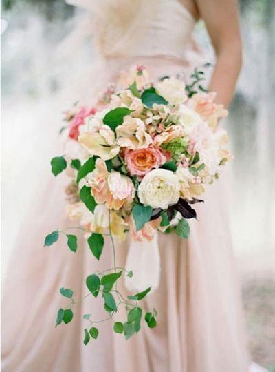 Bouquet mariée en cascade