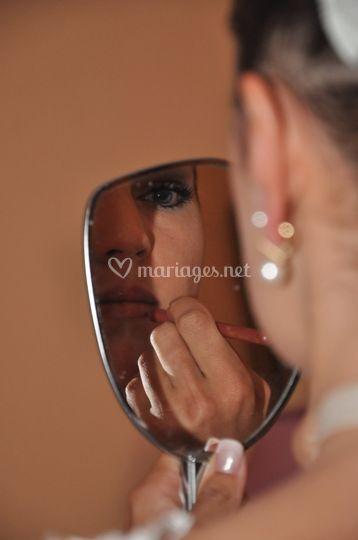 Préparation de mariée