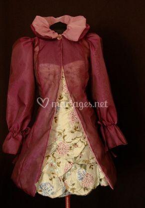 Manteau réversible en organza de soie