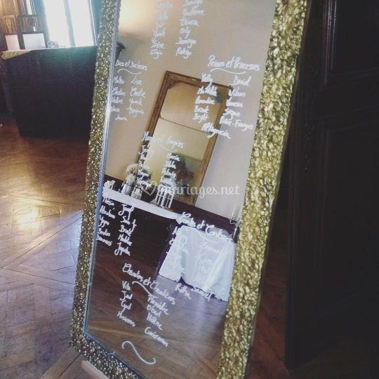 Plan de table Miroir