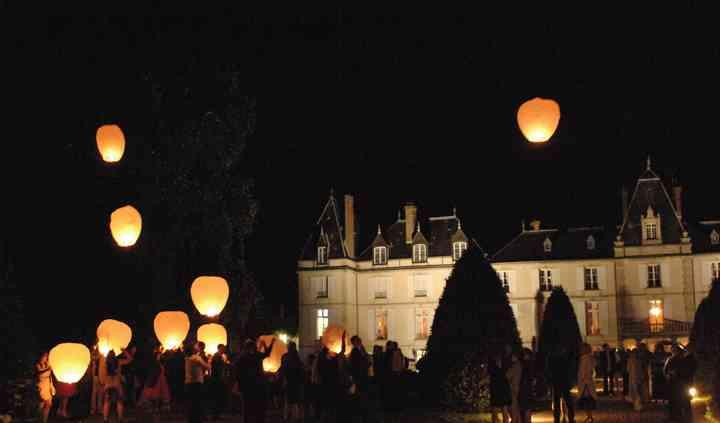 Le lâcher de lanternes