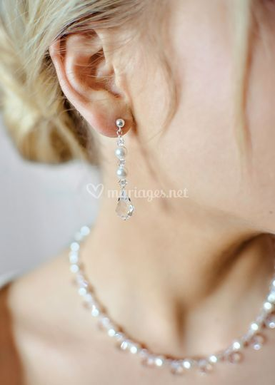 Boucles Glamour perles