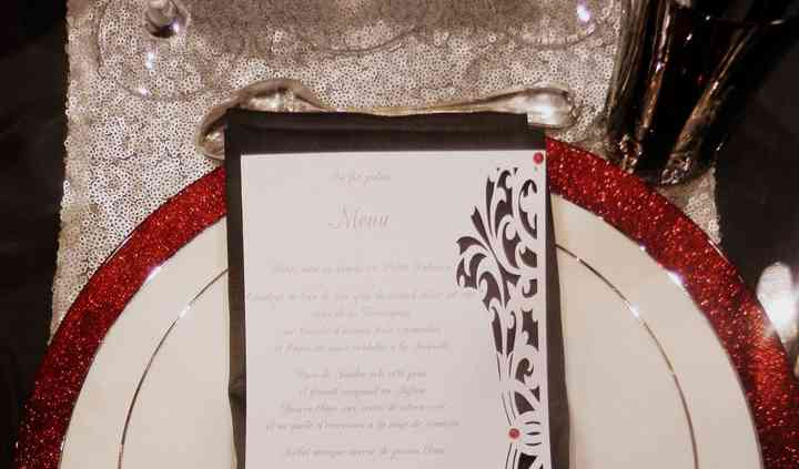 Menu red and white